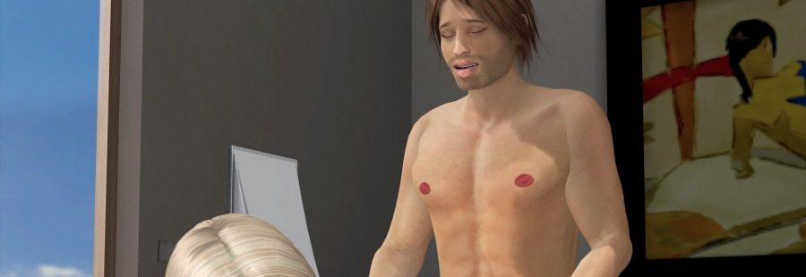3D date gay porn game with real time gay fucking